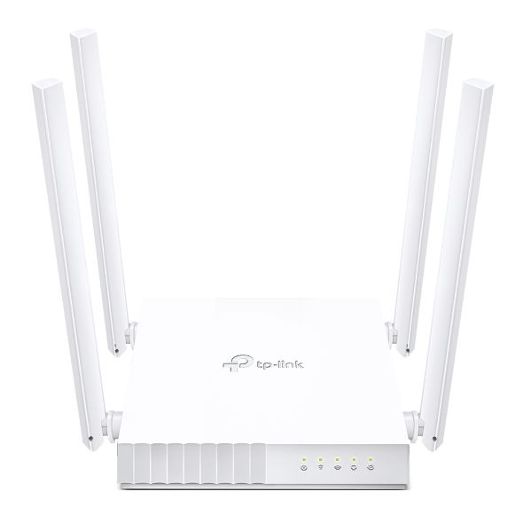 TP-LINK Dual Band Router Archer C24 802.11ac, 300+433 Mbit/s, 10/100 Mbit/s, Ethernet LAN (RJ-45) ports 4, MU-MiMO Yes, Antenna type 4xFixed