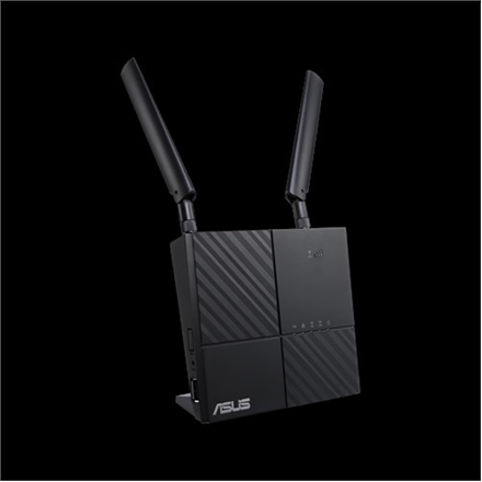 Asus LTE Modem Router 4G-AC53U 802.11ac, 300+433 Mbit/s, 10/100/1000 Mbit/s, Ethernet LAN (RJ-45) ports 2, MU-MiMO Yes, 4G, Antenna type 2xExternal, 1xUSB 2.0, Dual-band, LTE downlink up to 300Mbps,