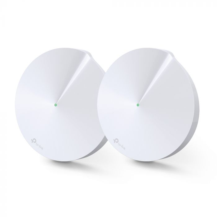TP-LINK AC1300 Whole Home Mesh Wi-Fi System Deco M5 (2-pack) 802.11ac, 867+400 Mbit/s, 10/100/1000 Mbit/s, Ethernet LAN (RJ-45) ports 2, Mesh Support Yes, MU-MiMO Yes, Antenna type 4xInternal per Dec