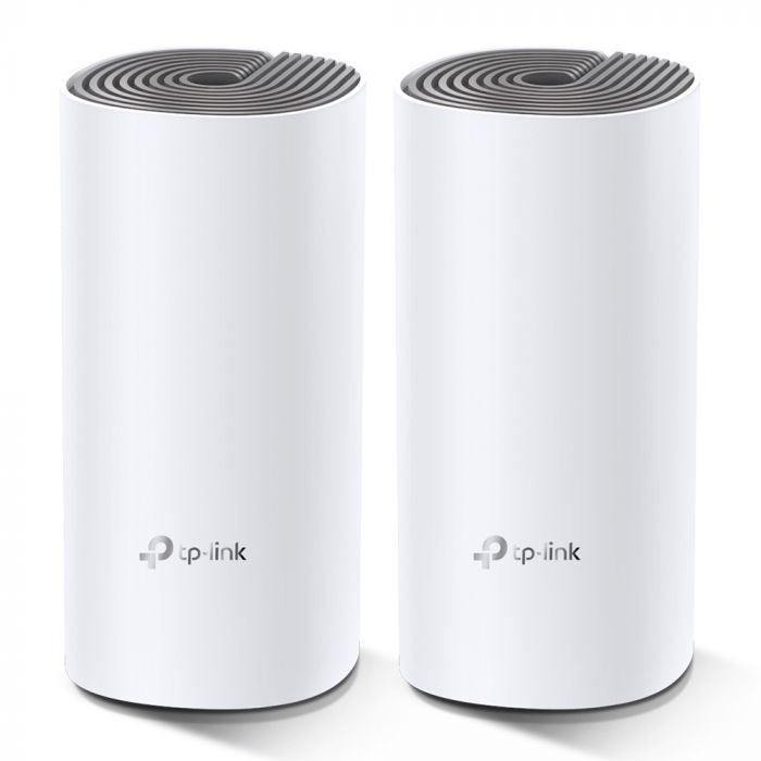 TP-LINK C1200 Whole Home Mesh Wi-Fi System Deco E4 (2-pack) 802.11ac, 867+300 Mbit/s, 10/100 Mbit/s, Ethernet LAN (RJ-45) ports 2, Mesh Support Yes, MU-MiMO Yes, Antenna type 2xInternal
