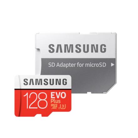 Samsung microSD Card Evo Plus 128 GB, MicroSDXC, Flash memory class 10, SD adapter