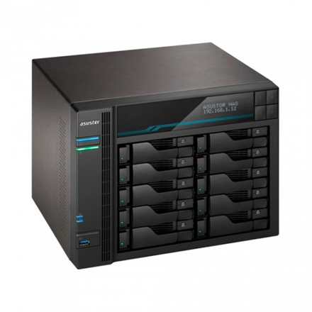 Asus AsusTor 10 Bay NAS AS6510T Up to 10 HDD/SSD, Intel ATOM C3538 Quad-Core, Processor frequency 2.1 GHz, 8 GB, SO-DIMM DDR4, Black