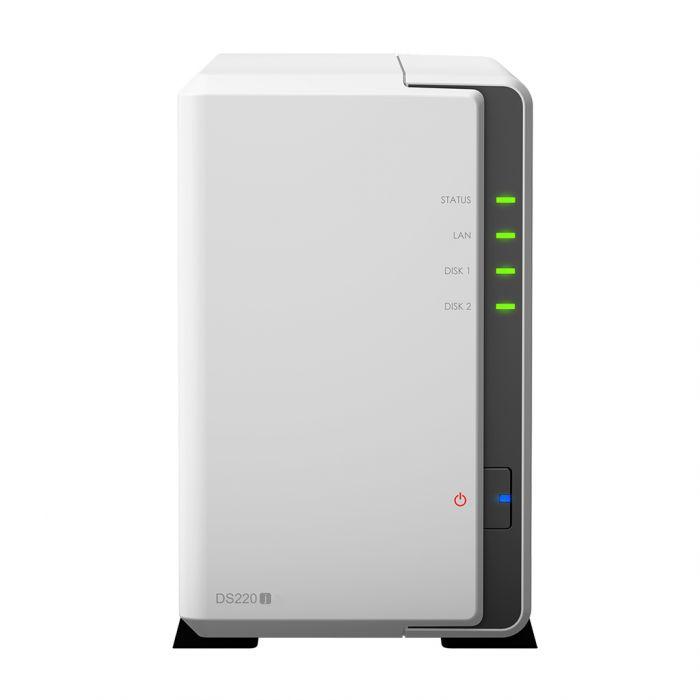 Synology Tower NAS DS220j up to 2 HDD/SSD, Realtek RTD1296 Quad Core, Processor frequency 1.4 GHz, 0.5 GB, DDR4, RAID 0,1,Hybrid, 1x1GbE, 2xUSB 3.0, Single Fan