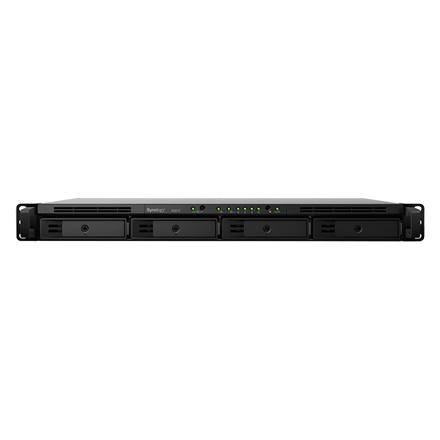 Synology Rack NAS RS819 Up to 4 HDD/SSD Hot-Swap, RTD1296 Quad Core, Processor frequency 1.4 GHz, 2 GB, DDR4, RAID 0,1,5,6,10,Hybrid, 2 x 1GbE, 2 x USB 3.2 Gen 1 Port, 1 x eSATA Port, Triple Fan