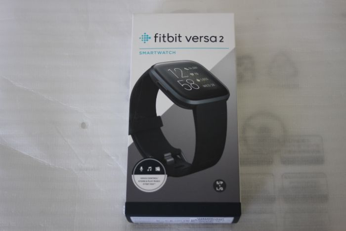 SALE OUT. Fitbit Versa 2 (NFC) Smartwatch, Black/Carbon Aluminum Fitbit Versa 2 Smart watch, NFC, OLED, Touchscreen, Heart rate monitor, Activity monitoring 24/7, Waterproof, Bluetooth, DEMO, Wi-Fi,