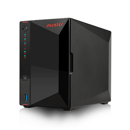 Asus Asustor Nimbustor 2   AS5202T up to 2 HDD/SSD, Intel Celeron J4005 Dual-Core, Processor frequency 2.0 GHz, 2 GB, SO-DIMM DDR4 2400, Single, Black