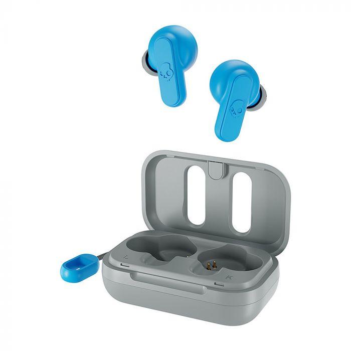 Skullcandy True Wireless Earbuds Dime  In-ear, Microphone, Noice canceling, Wireless, Light Grey/Blue