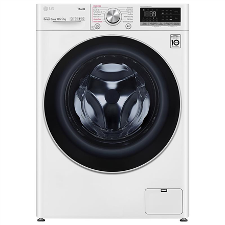LG Washing Machine With Dryer F4DV710S1E Energy efficiency class A, Front loading, Washing capacity 10.5 kg, 1400 RPM, Depth 56 cm, Width 60 cm, Display, LED, Drying system, Drying capacity 7 kg, Ste