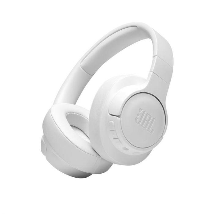 Juhtmevabad kõrvaklapid JBL T710, üle kõrva, valge