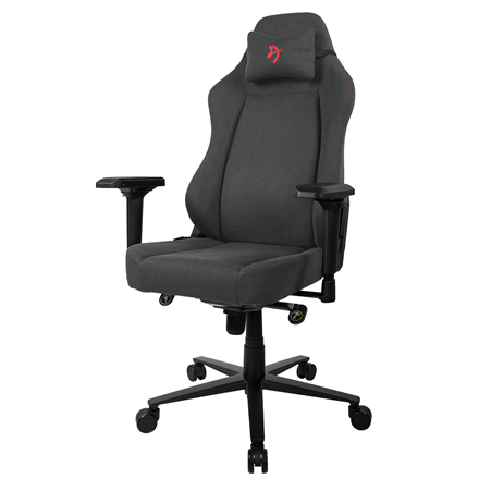 Arozzi Gaming Chair Primo Woven Fabric  Black/Grey/Red logo