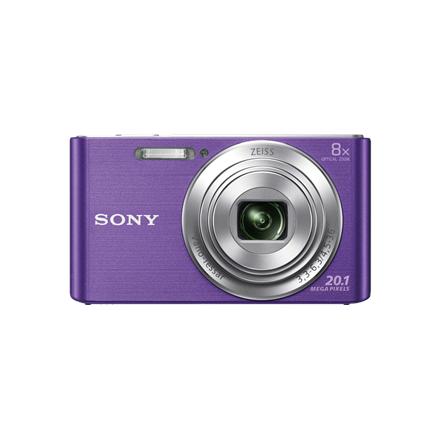 Sony Cyber-shot DSC-W830 Compact camera, 20.1 MP, Optical zoom 8 x, Digital zoom 32 x, ISO 3200, Display diagonal 6.86 cm, Video recording, Lithium, Purple