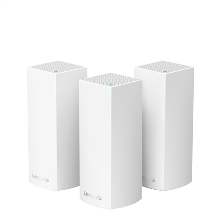 Linksys Whole Home System WHW0303-EU 802.11ac, 400+867+867 Mbit/s, 10/100/1000 Mbit/s, Ethernet LAN (RJ-45) ports 2, Mesh Support Yes, MU-MiMO Yes, Antenna type 6xInternal