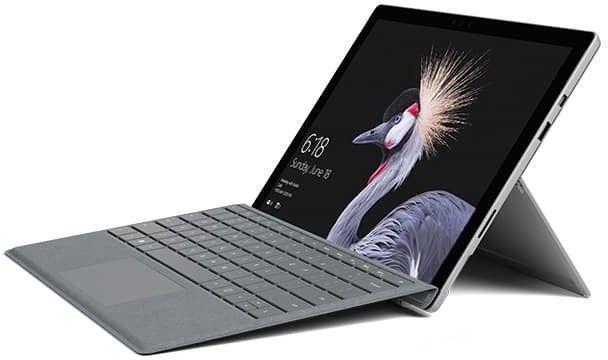 Microsoft Surface Pro 7 Platinum + Surface Pro Type Cover Black, 12.3