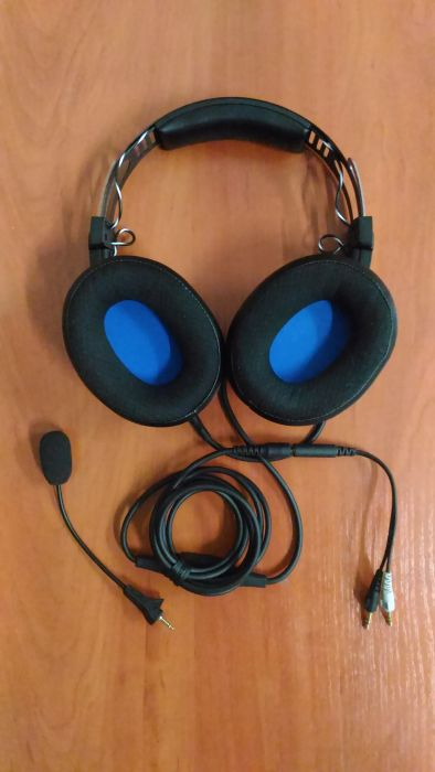 SALE OUT. Audio Technica ATH-G1 Gaming Headset, Over-Ear, Wired, Microphone, Black/Blue Audio Technica USED REFURBISHED WITHOUT ORIGINAL PACKAGING AND ACCESSORIES, Warranty 3 month(s)