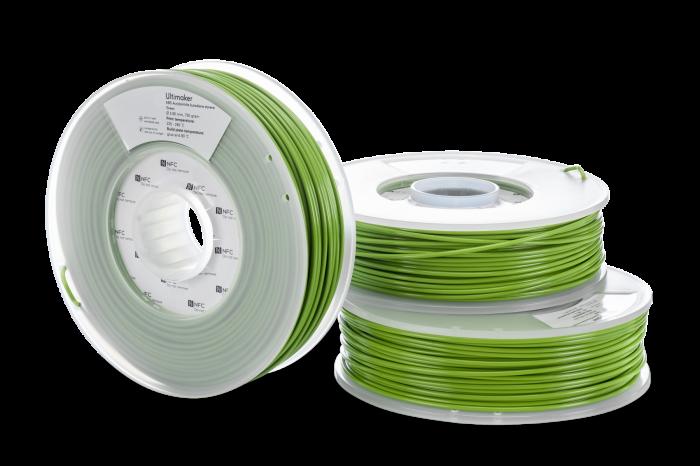 ABS filament Ultimaker 3D-printerile, NFC, roheline