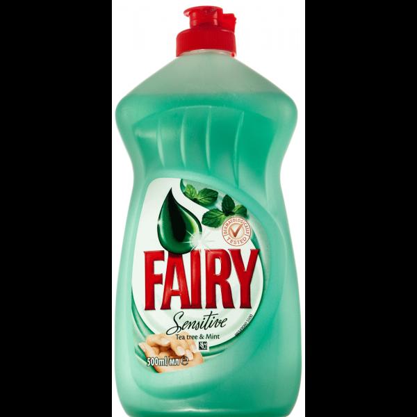 Nõudepesuvahend FAIRY Sensitive Tea Tree 450ml