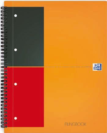 Kaustik A4 jooneline 80lehte spiraalköide augustatud Oxford International Activebook