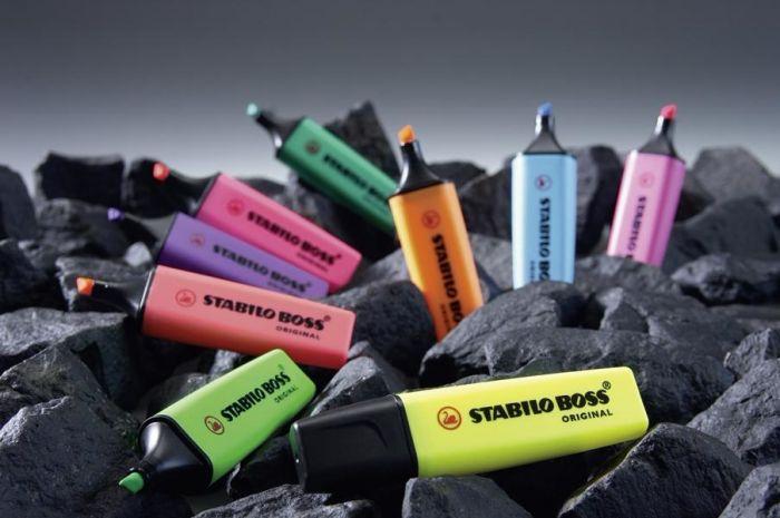 Helestusmarker 2-5mm, 2 värvi/kmpl Stabilo BOSS 70