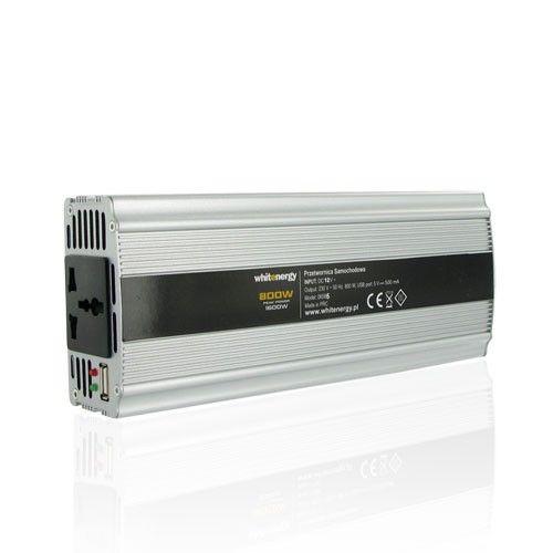 Inverter Whitenergy Power Inverter DC/AC from 12V DC to 230V AC 800W, USB, 2YW