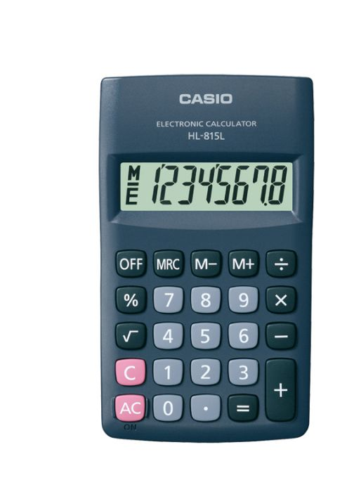 Taskukalkulaator Casio HL-815L black (must) 8-kohaline 118x69.5x18mm