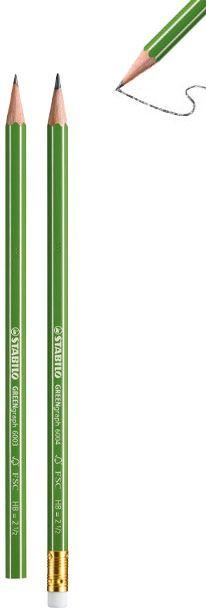 Harilik pliiats Stabilo GREENgraph kustukummiga