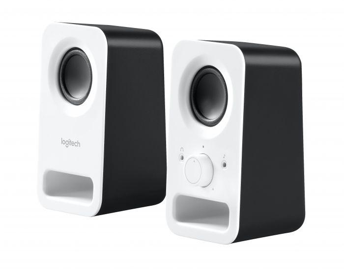 Kõlarid Logitech Z150 Speaker Snow White/valged, 2.0 3W RMS