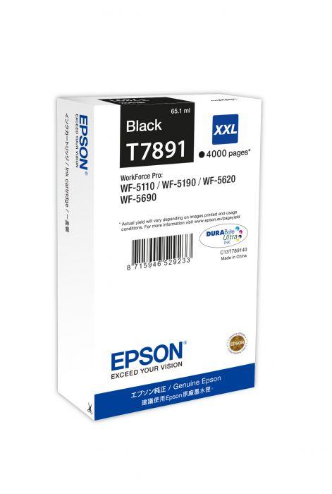Tint Epson T7891 Black DURABrite Ultra Ink 65,1ml 4000lk WF-5110DW/WF-5190DW/WF-5620DWF/WF-5690DWF