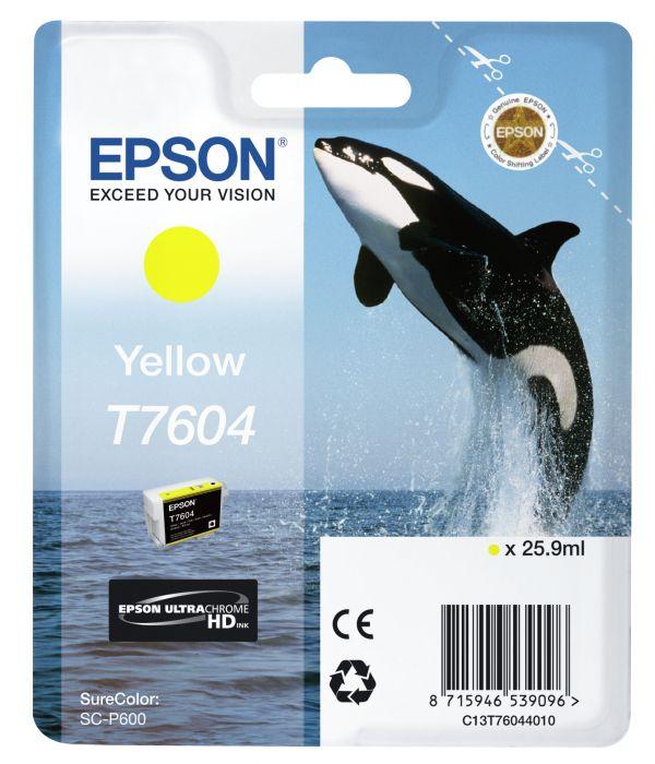 Tint Epson T7604 Yellow/kollane 25.9ml SureColor P600