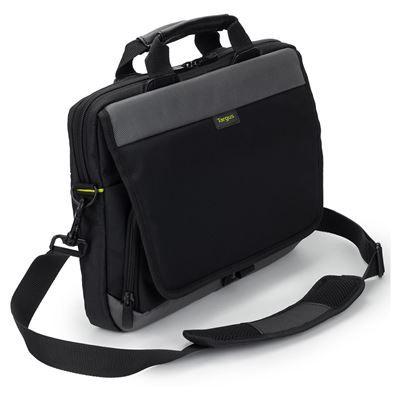 Sülearvuti ümbris Targus TSS866GL CityGear 14` Slim Topload Laptop Sleeve Black/must sangade ja õlarihmaga, 2 lukuga lisataskut
