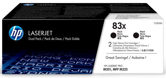Tooner HP CF283XDouble Black high capacity 2500lk suuremahuline topeltpakk must