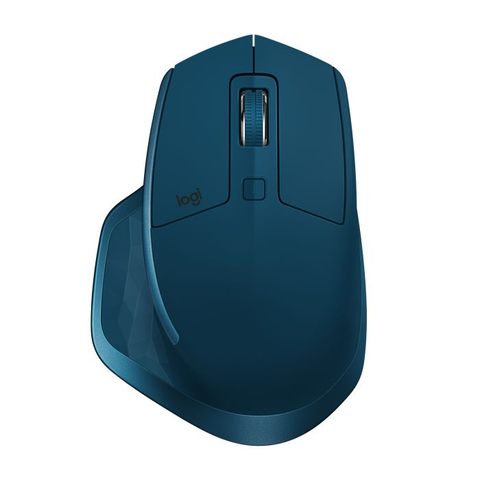 Hiir Logitech MX Master 2S Dual Wireless Mouse (2,4GHz+Bluetooth), Midnight Teal, Li-Poly 500mAh, microUSB, Unifying