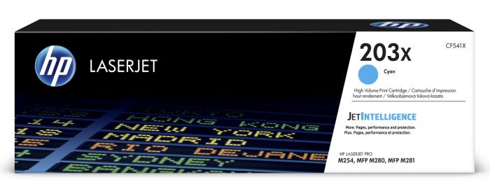 Tooner HP CF541X 203X Cyan 2500pg for Color LaserJet Pro M254, MFP M280/M281