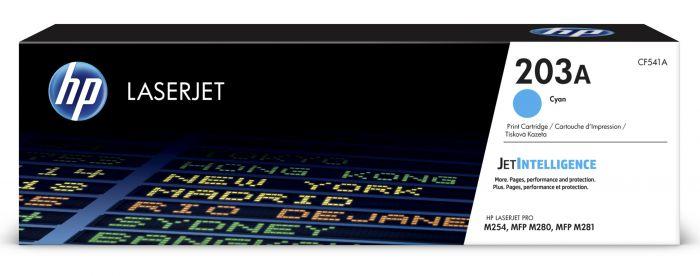 Tooner HP CF541A 203A Cyan 1300pg for Color LaserJet Pro M254, MFP M280/M281