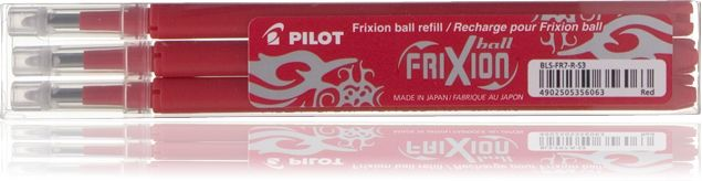 Tindisüdamik Pilot Frixion BLS-FR7  0,7 punane 3tk/kmpl