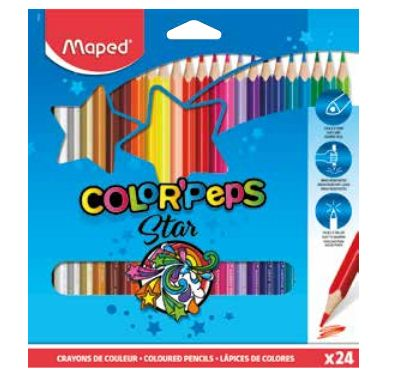 Värvipliiats Color Peps 24 värvi, Maped