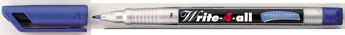 Marker  F-0,7mm sinine veekindel Stabilo Write-4all