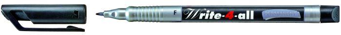 Marker  F-0,7mm must veekindel Stabilo Write-4all
