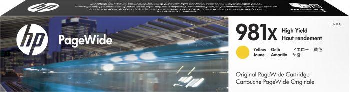 Tint HP 981X L0R11A High Yield Yellow/kollane suuremahuline Pagewide 11000lk PageWide Pro 452/477/556 MFP586