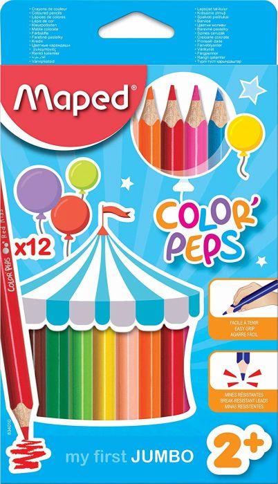 Värvipliiats Color Peps Jumbo 12 värvi, Maped