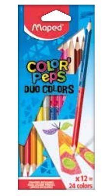 Värvipliiats Color Peps Duo 12tk.=24värvi, Maped