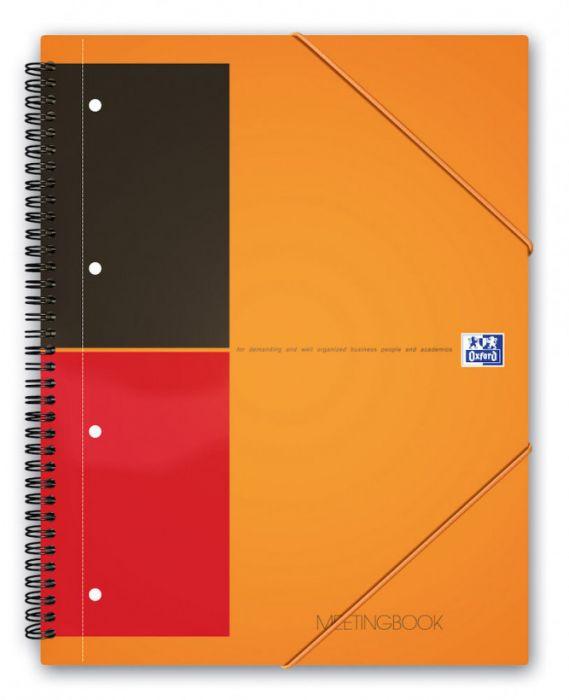 Nõupidamismapp A4 80l. joon spiraalköide, Oxford International Meetingbook