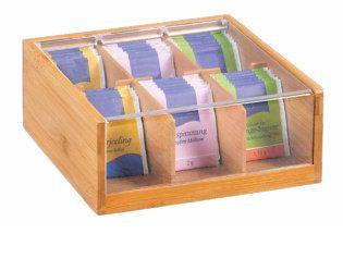 Teekarp 6 lahtriga (22x9,5 x21cm), bambus