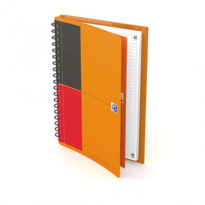 Nõupidamismapp Oxford International MeetingBook, B5,80 lehte,spiraalköide, jooneline