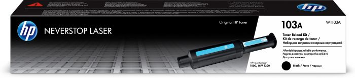 Tooner HP 103A W1103A Black/must 2500lk toner refill for Neverstop Laser 1000a/1000w, MFP1200a/1200w
