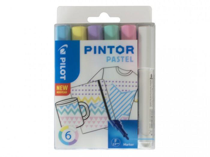 Marker Pilot Pintor , FINE 1-2,9mm, koonus ots, pastel 6värvi/kompl,veebaasil