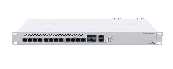 MikroTik Cloud Router Switch 312-4C+8XG-RM with RouterOS L5, 1U rackmount Enclosure