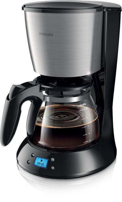 Kohvimasin Philips HD7459/20 must/hall klaaskann 1,2L taimer 1000W 1x4