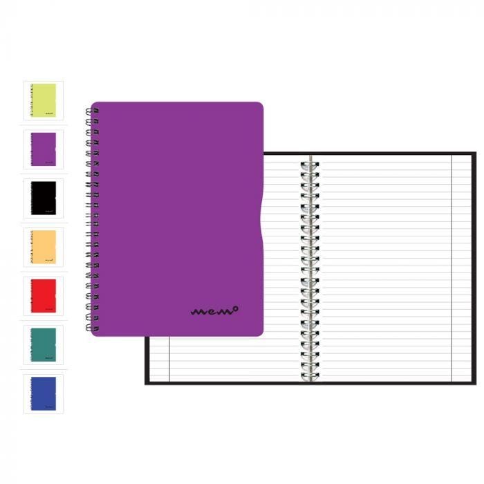 fe8ca0b208c Kaustik A5 60l jooneline Memo, spiraalköide, värvilised plastkaaned -  Notebooks A5 - Notebooks and notepads - Paper products