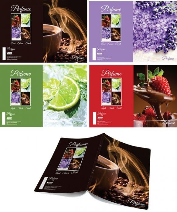 Kaustik A4 Target Lõhnad, spiraalkinnitusega, 70 lehte, 80g, jooneline