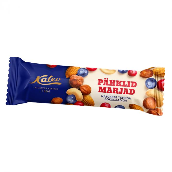 Pähkli-marjabatoon tumeda shokolaadiga 42g, Kalev